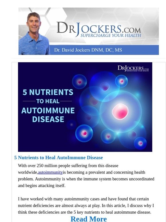 DrJockers com: Top 5 Nutrients to Shut Down Inflammation (#1