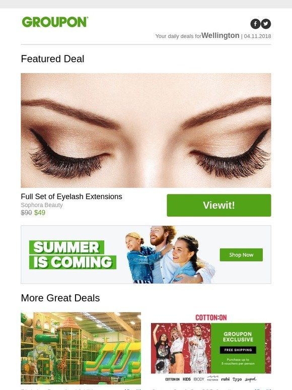 Groupon Full Set Of Eyelash Extensions Cotton On Co 35