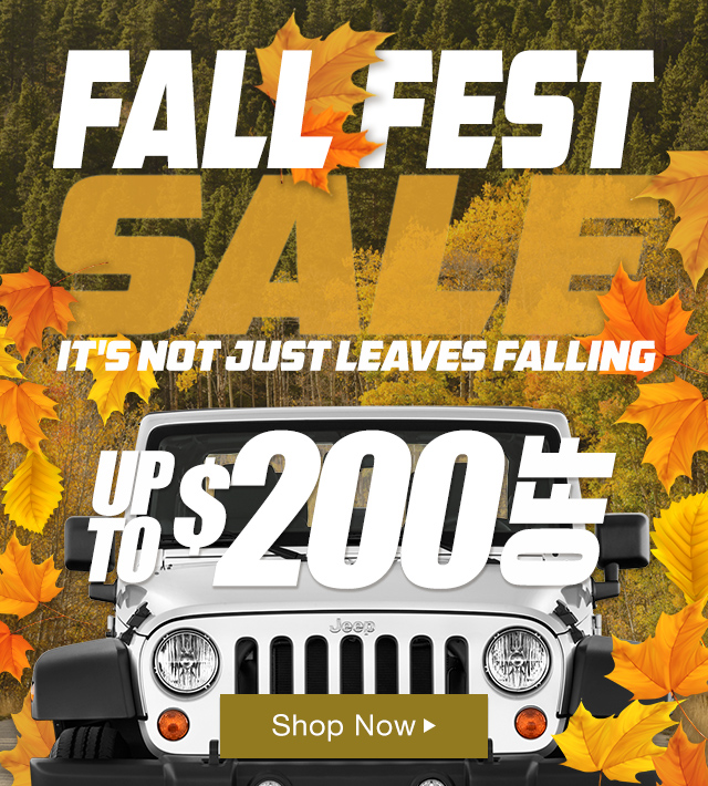 Fall Fest Save up to $200