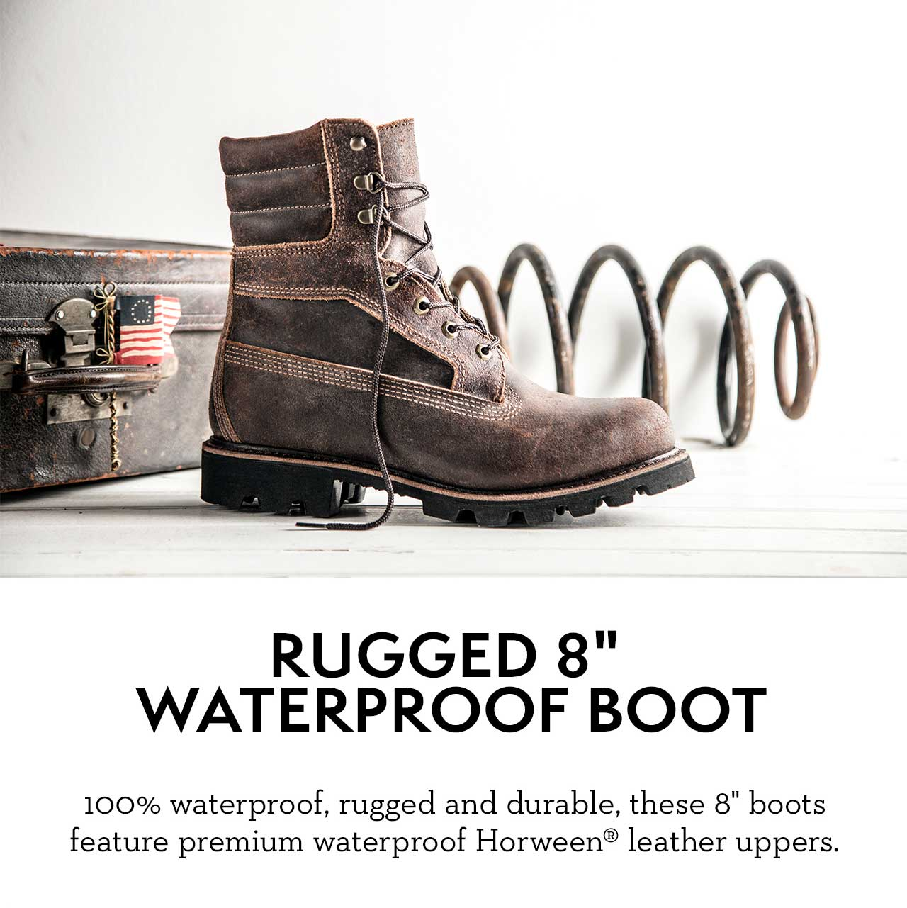 "Rugged 8"" Waterproof Boot