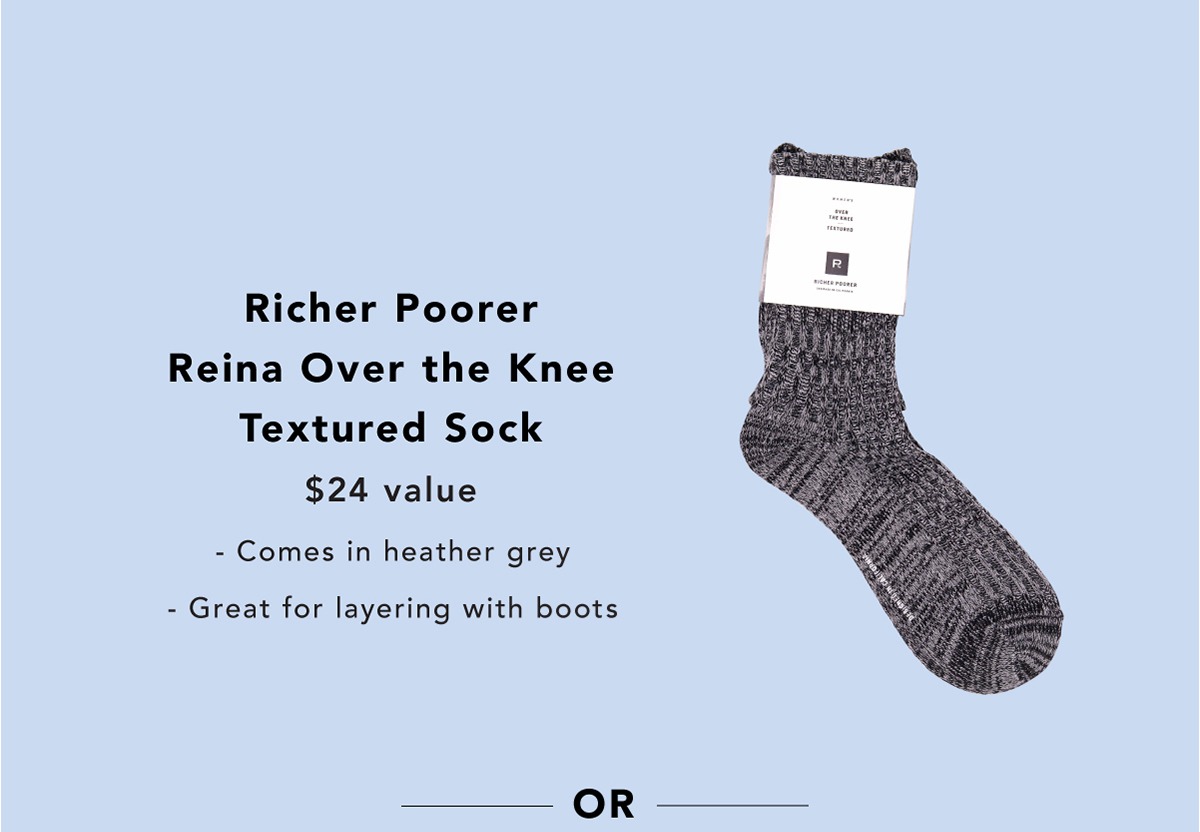 1c254a199 Richer Poorer Reina Over the Knee Textured Sock