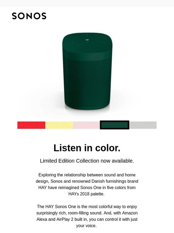 Hay sonos one limited edition