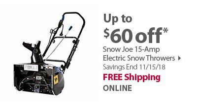 Snow Joe Electric Thrower