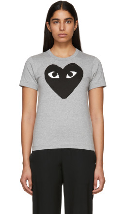 Comme des Garons Play - Grey Big Heart T-Shirt