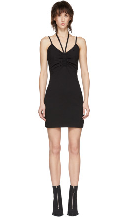 T by Alexander Wang - Black Compact Ruched Dress