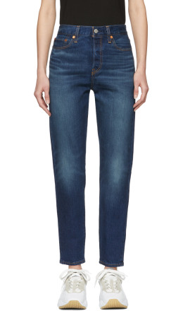 Levi's - Blue Wedgie Icon Fit Jeans