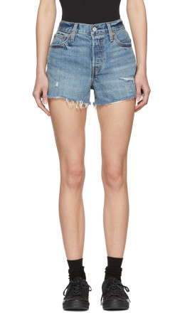 Levi's - Blue Denim Wedgie Shorts