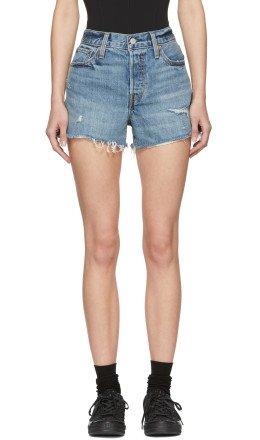 Levi's - Blue Denim Wedgie Shorts