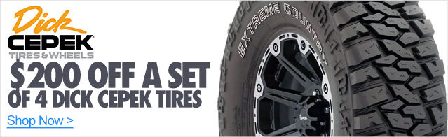 $200 Off a set of 4 Dick Cepek Tires