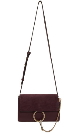 Chlo - Burgundy Small Faye Bag