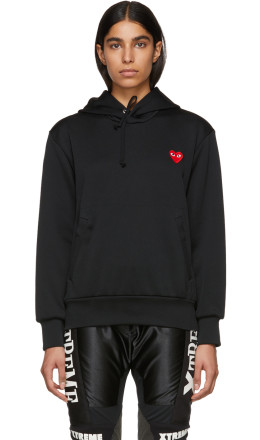 Comme des Garons Play - Black Heart Patch Hoodie