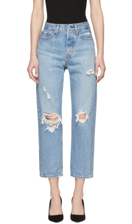 Levi's - Blue Wedgie Straight Jeans