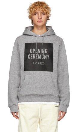 Opening Ceremony - Grey Box Logo Hoodie