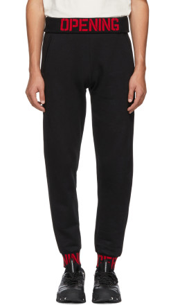 Opening Ceremony - Black Elastic Logo Fitted Lounge Pants