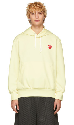 Comme des Garons Play - Yellow Heart Patch Hoodie