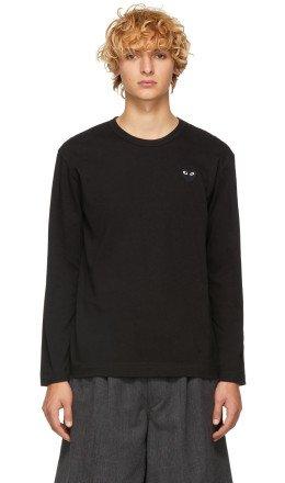 Comme des Garons Play - Black Heart Patch Long Sleeve T-Shirt