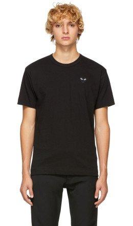 Comme des Garons Play - Black Heart Patch T-Shirt