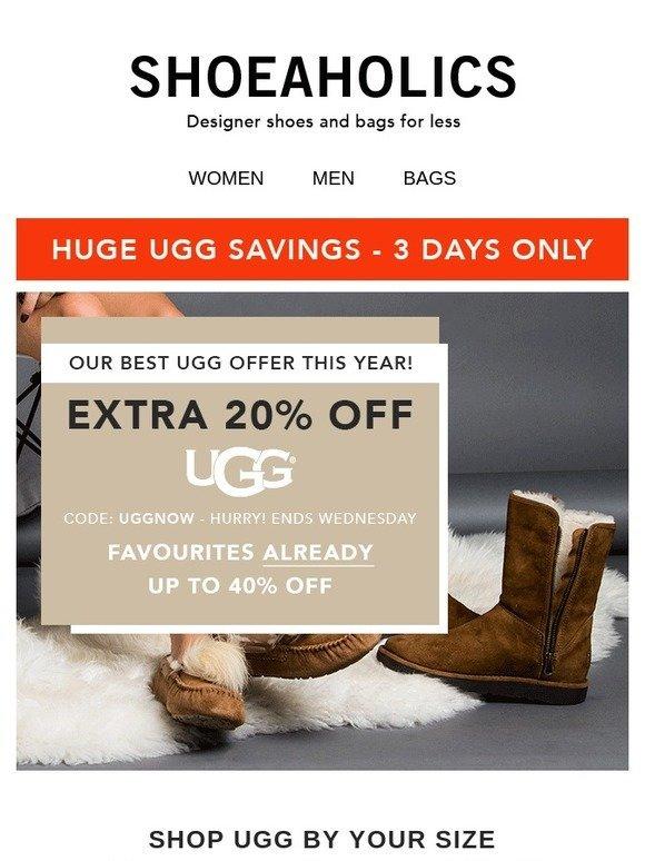 Shoeaholics: Extra 20% off UGG! | Milled