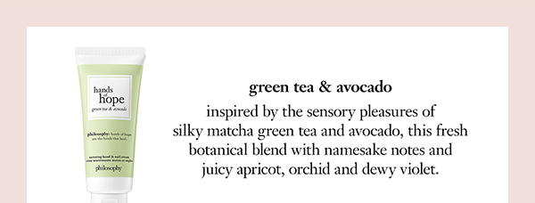 green tea & avocado