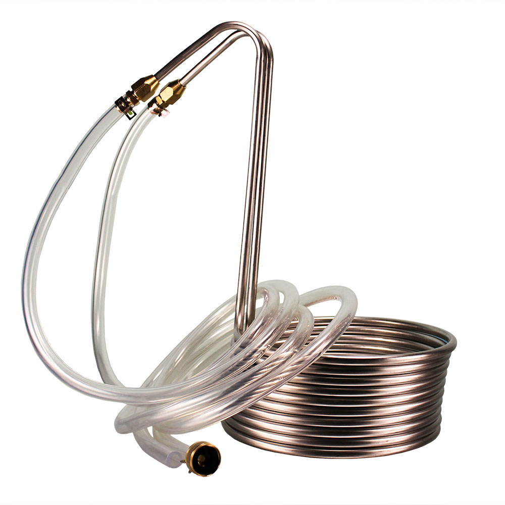Silver Serpent Stainless Immersion Wort Chiller