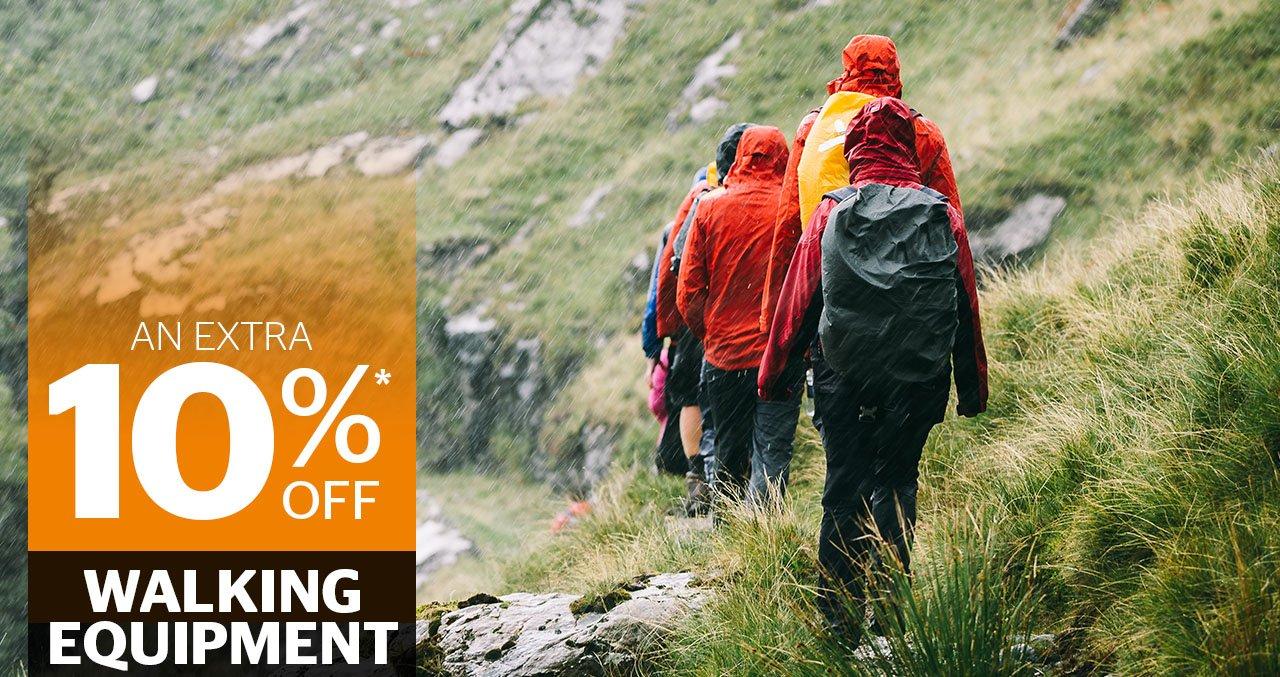 10 percent off walking