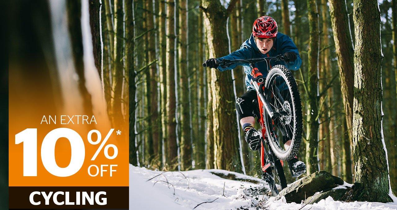 10 percent off cycling