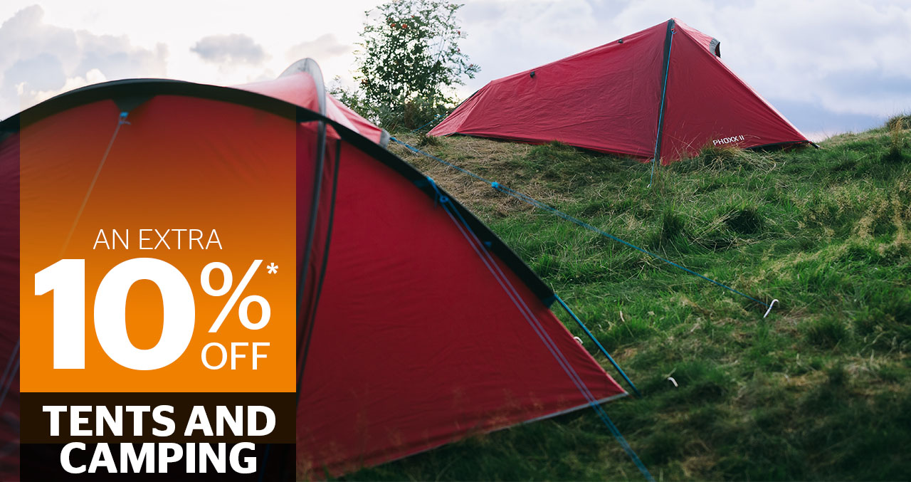 10percent off tents and camping