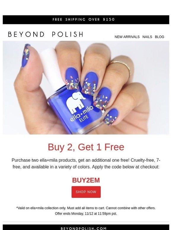 Beyond Polish Get A Free Bottle Of Ella Mila Milled