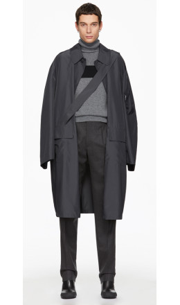 Random Identities - Grey Satin Overcoat