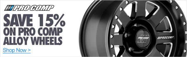 15% Off Pro Comp Alloy Wheels