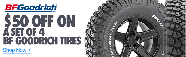 $50 Off on a set of 4 BF Goodrich Tires