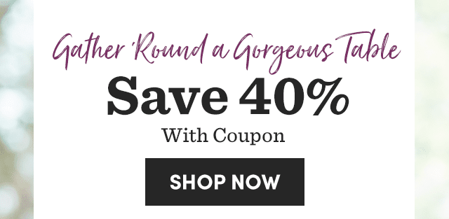 Save 40% With Coupon
