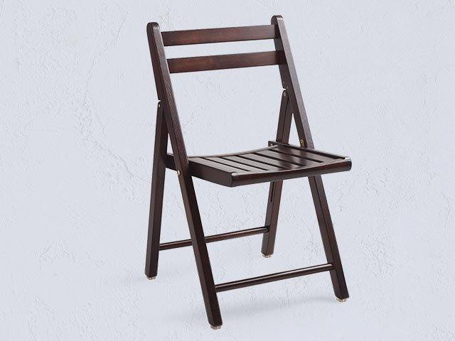 Espresso Brown Folding Chair