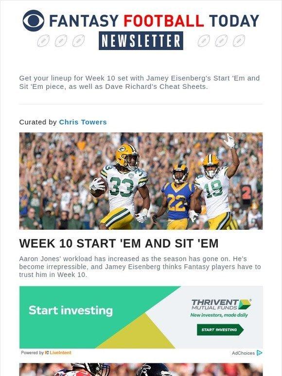 Cbs Sports Week 10 Start Em Sit Em Milled