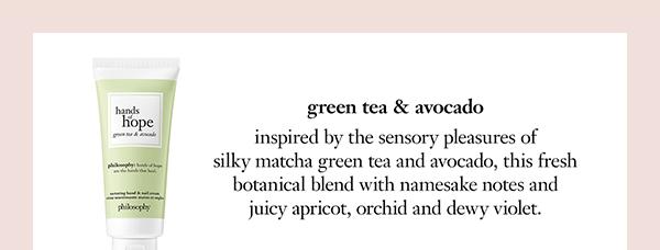 green tea & avocado