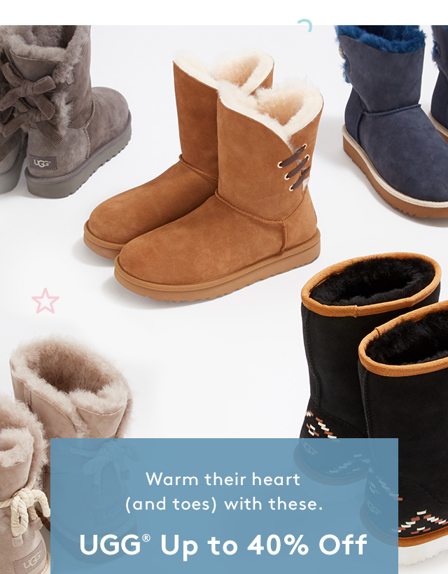 Warm their heart (and toes) with these. | UGG Up to 40% Off
