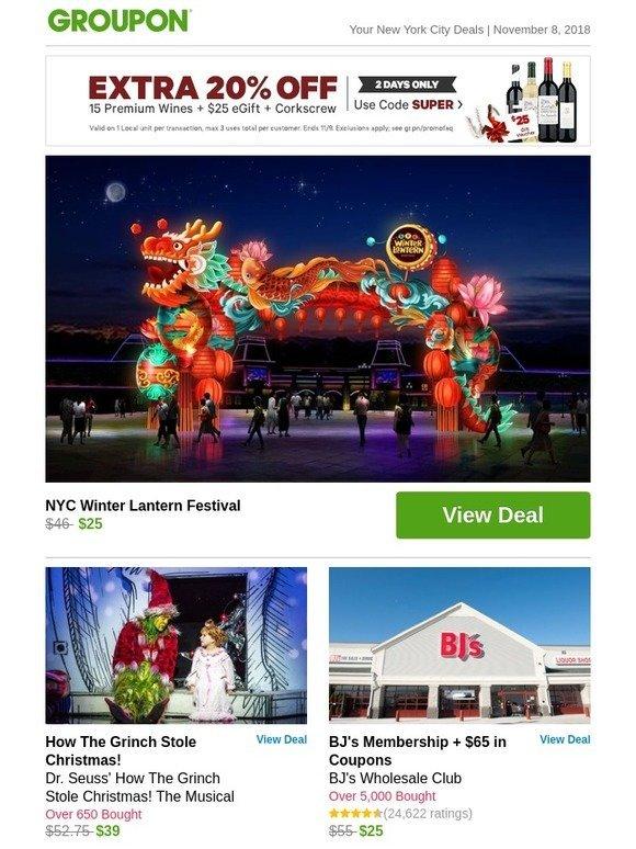 Groupon: NYC Winter Lantern Festival | Milled
