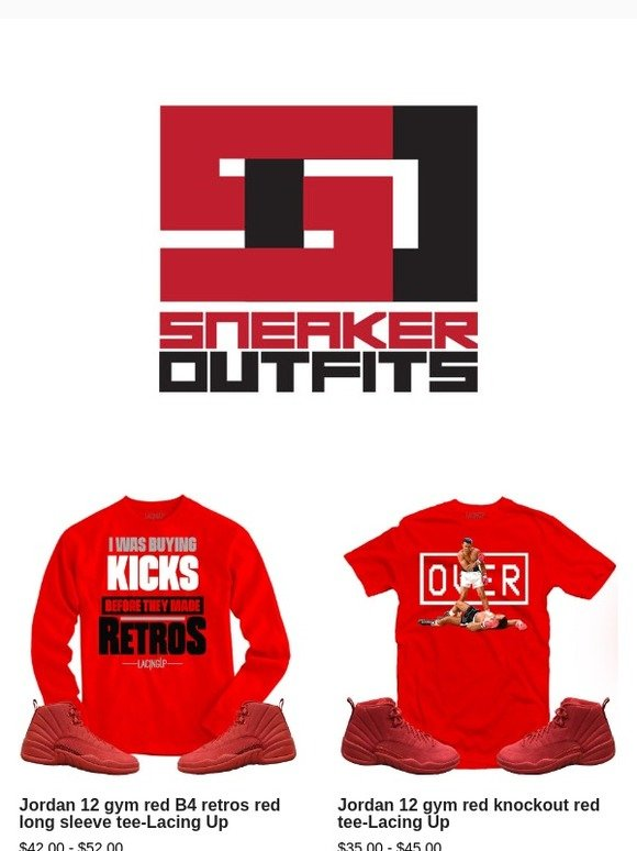 db37eb511c7026 SneakerOutfits  JORDAN 12 GYM RED COLLECTION