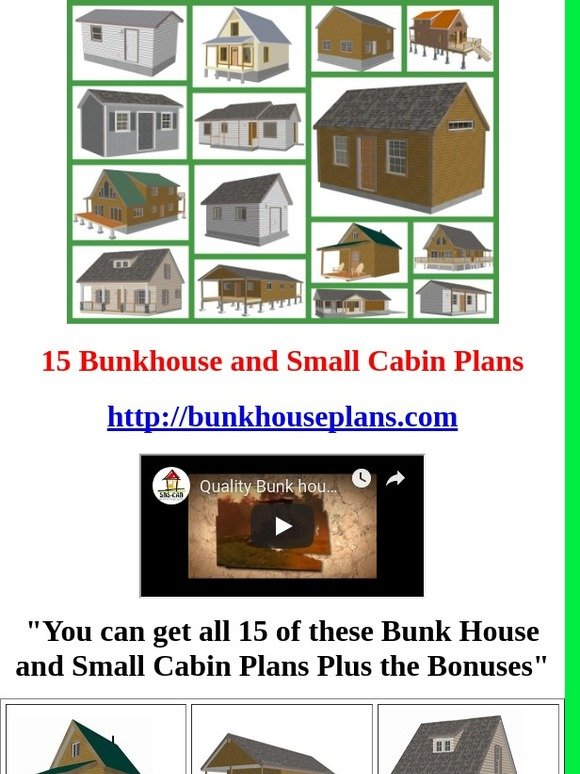 House And Cabin Plans Download Instantly Only $1: 15 Bunkhouse Plans