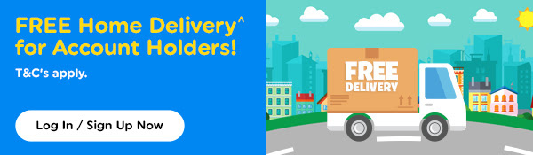 Free home delivery for account holders