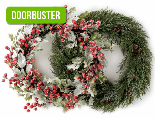 Blooming Holiday Wreaths.