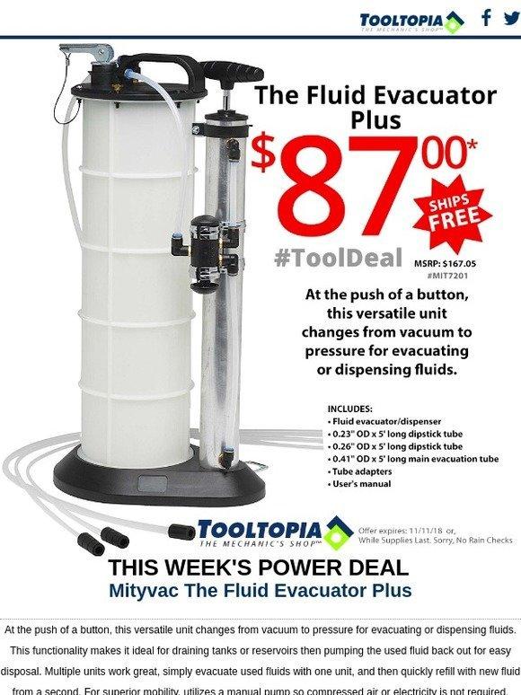 The Fluid Evacuator Plus MIT7201 Brand New!