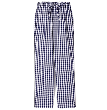 Sleepy Jones Marina Gingham Cotton Pajama Pants $128