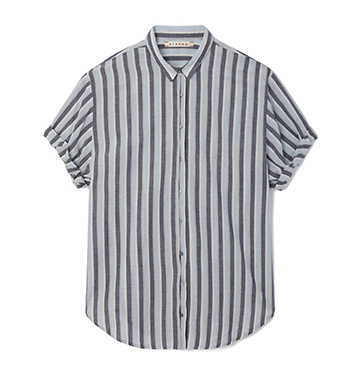 Xirena Everton Striped Cotton Channing Shirt $175