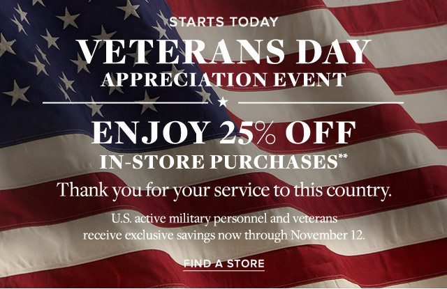 VETERANS DAY APPRECIATION EVENT