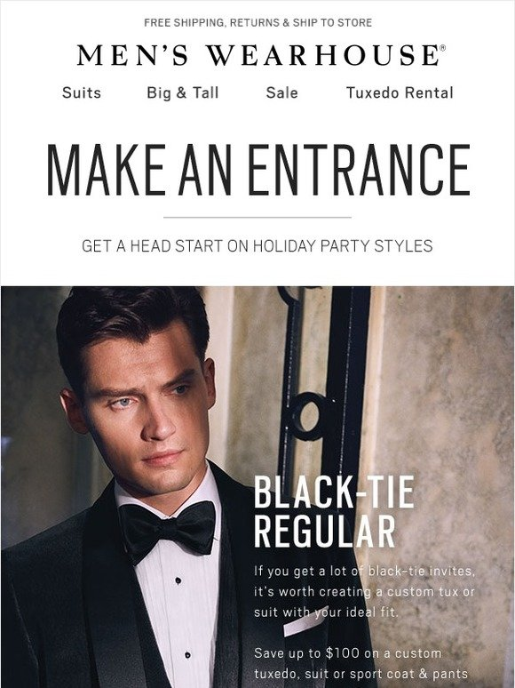 0a0aa2df83 Men s Wearhouse  Holiday party style guide