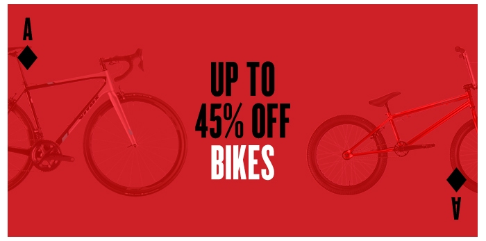 Up to 60% off bikes