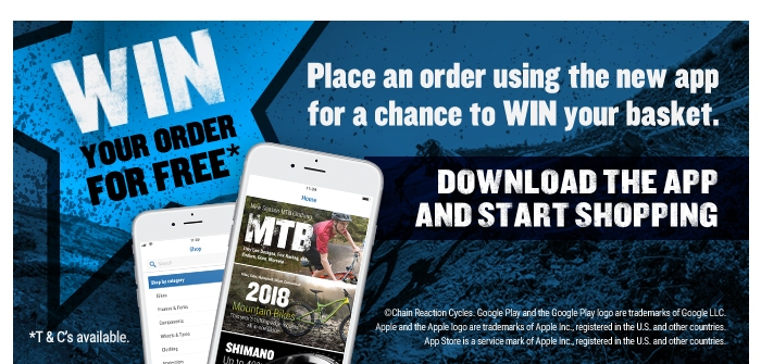 Win your order*. Place an order using the app for a chance to WIN your basket