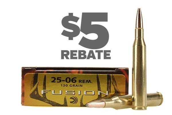 $5 Rebate per Box on Federal Fusion Ammo!