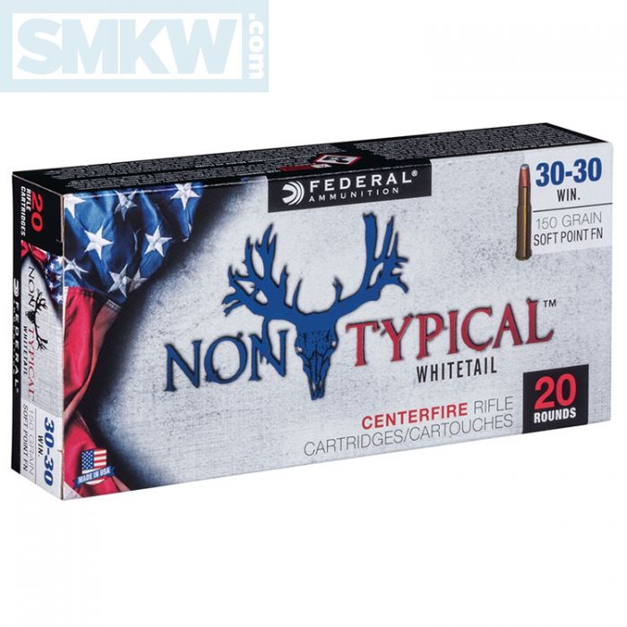 Federal Non-Typical Whitetail 30-30 Winchester 150 Grain Soft Point 20 Rds